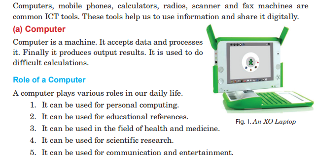 Image shows role of a computer