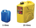 small and big jerrycan