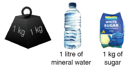 1 litre of mineral water and 1 kg of sugar