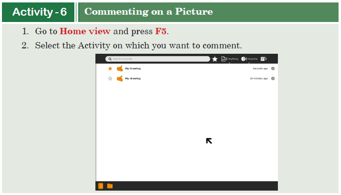 Activity -6 Commenting on a Picture