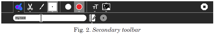 Secondary toolbar