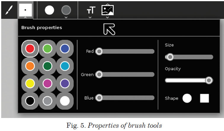 Properties of brush tools