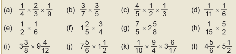 multiplication of fraction
